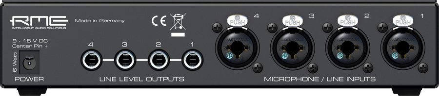 View larger image of RME QuadMic II Microphone Preamp