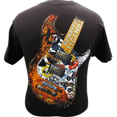 View larger image of Rock and Roll Legends T-Shirt - XL, Black