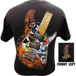 Rock and Roll Legends T-Shirt - XXL, Black