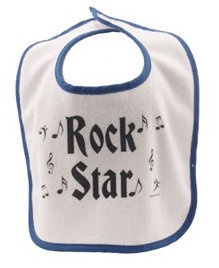 View larger image of Rock n' Roll Baby Bib - Blue