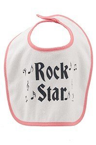 View larger image of Rock n' Roll Baby Bib - Red