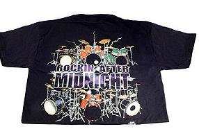View larger image of Rockin After Midnight with Drums T-Shirt - Large