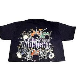Rockin After Midnight with Drums T-Shirt - Large