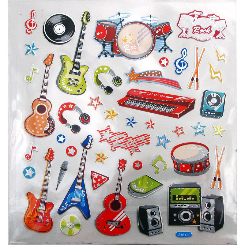 View larger image of Rockin' Musical Instrument Stickers