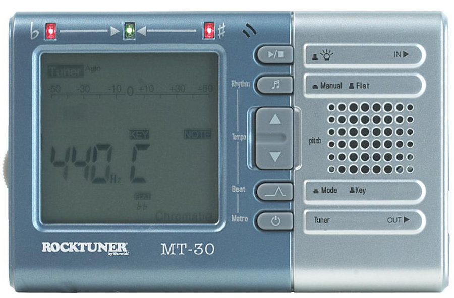 View larger image of RockTuner MT-30 Chromatic Metronome Tuner