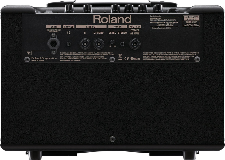 View larger image of Roland AC-40 Acoustic Chorus Guitar Amp
