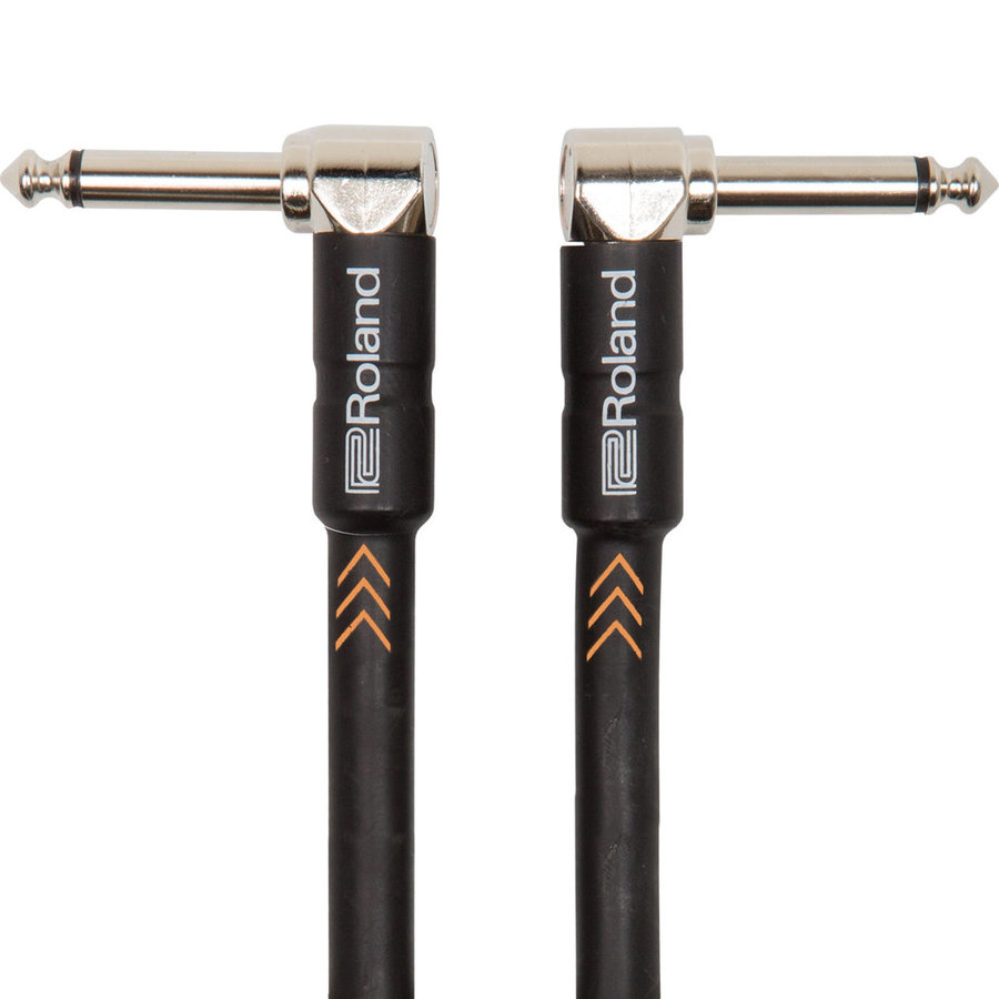 View larger image of Roland Black Series Instrument Cable - 1/4 Right Angle TS to 1/4 Right Angle TS, 6