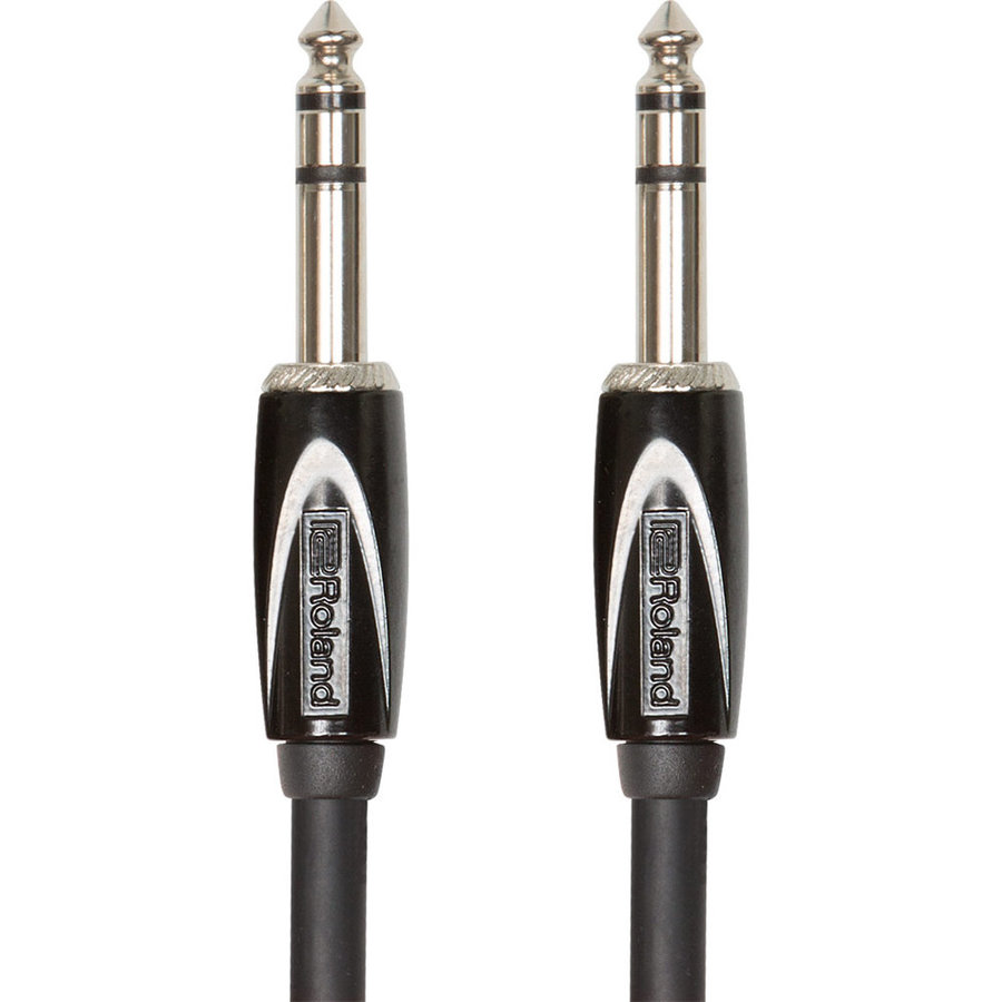 View larger image of Roland Black Series Interconnect Cable - 1/4 TRS to 1/4 TRS, 5'