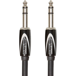Roland Black Series Interconnect Cable - 1/4 TRS to 1/4 TRS, 5'