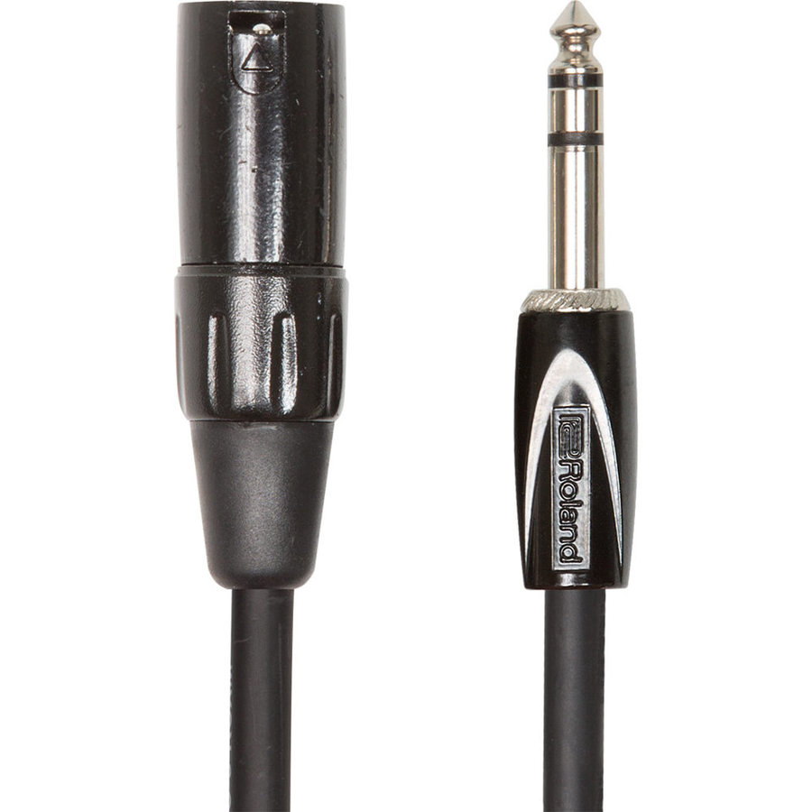 View larger image of Roland Black Series Interconnect Cable - 1/4 TRSM to XLRM, 15'