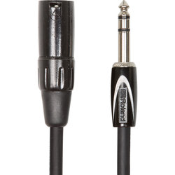 Roland Black Series Interconnect Cable - 1/4 TRSM to XLRM, 3'