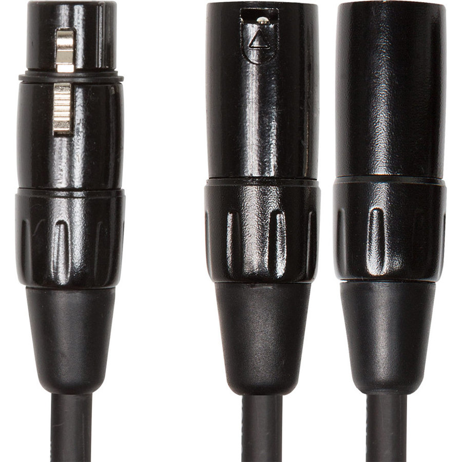 View larger image of Roland Black Series Interconnect Cable - XLRF to Dual XLRM, 6