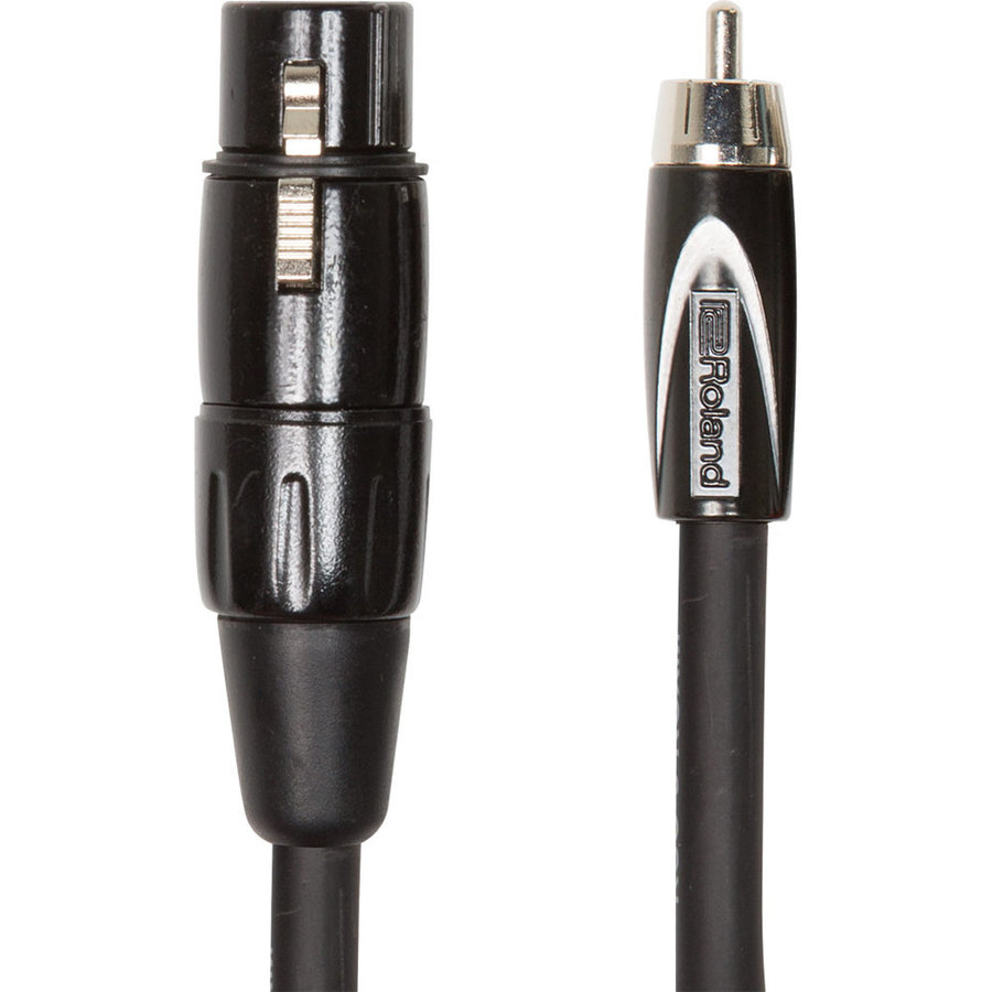 View larger image of Roland Black Series Interconnect Cable - XLRF to RCA, 10'