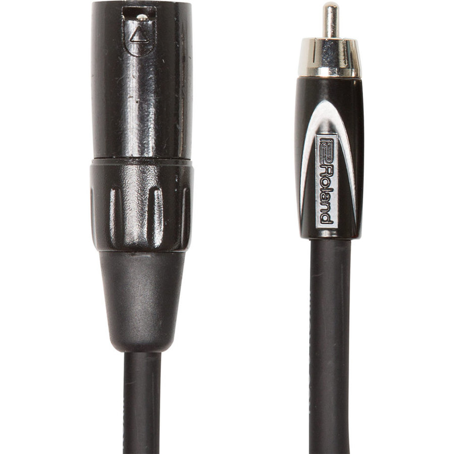 View larger image of Roland Black Series Interconnect Cable - XLRM to RCA, 10'