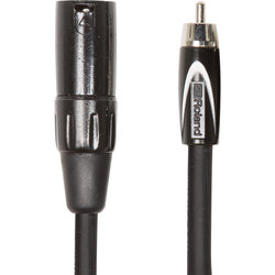 Roland Black Series Interconnect Cable - XLRM to RCA, 10'