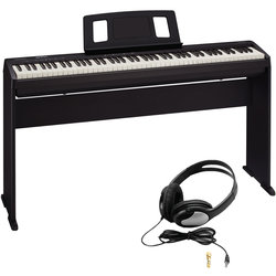 Roland FP-10 88-Key Digial Piano Bundle - Stand, Headphones