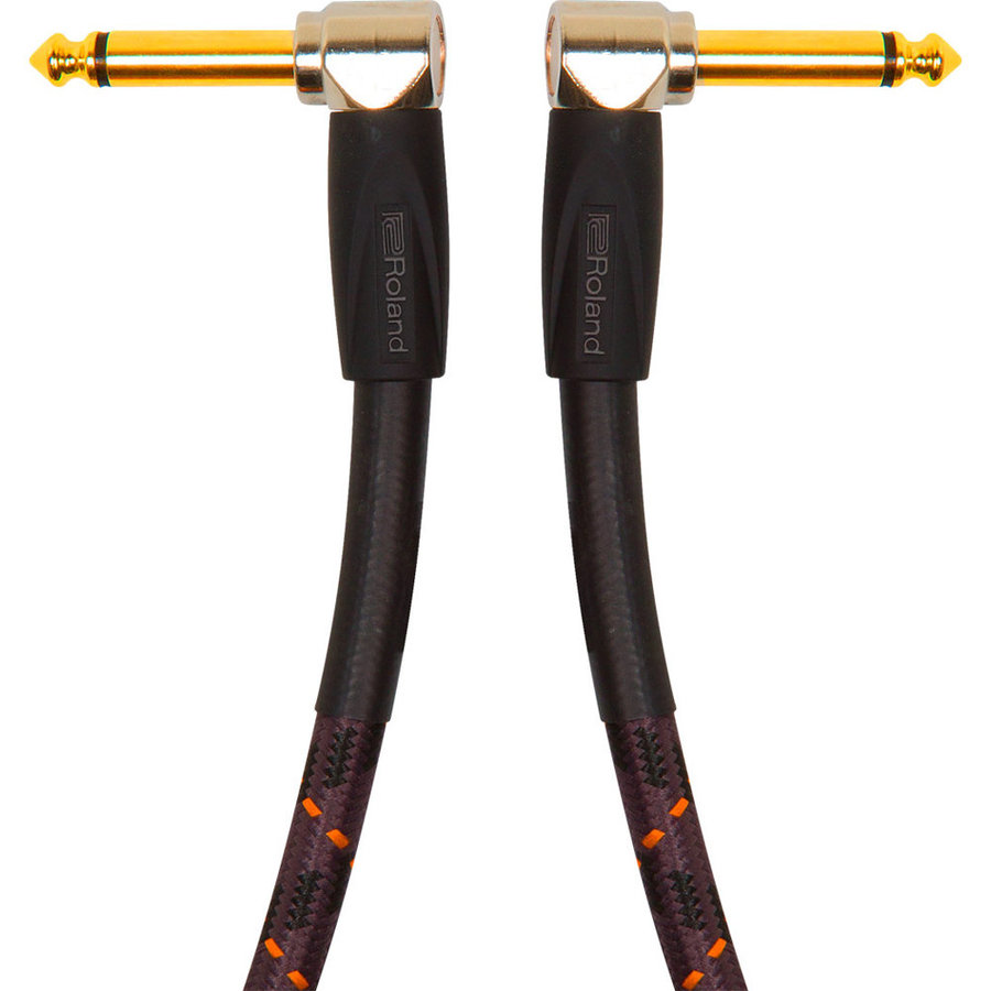 View larger image of Roland Gold Series Instrument Cable - 1/4 Right Angle TS to 1/4 Right Angle TS, 1'