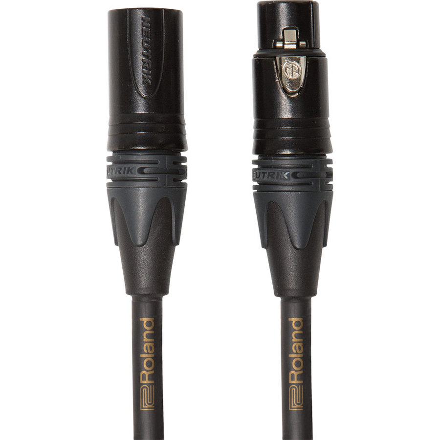 View larger image of Roland Gold Series Microphone Cable - Neutrik XLRM to Neutrik XLRF, 10'