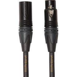 Roland Gold Series Microphone Cable - Neutrik XLRM to Neutrik XLRF, 10'