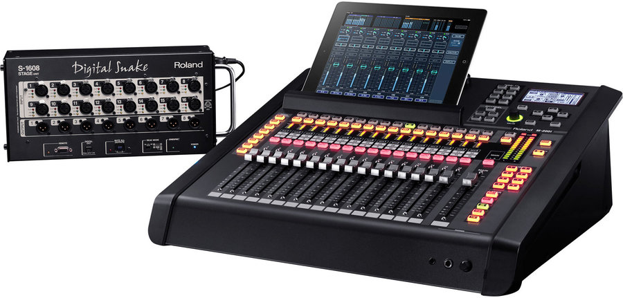 View larger image of Roland M200i-EXP V-Mixer with S-1608 Digital Snake