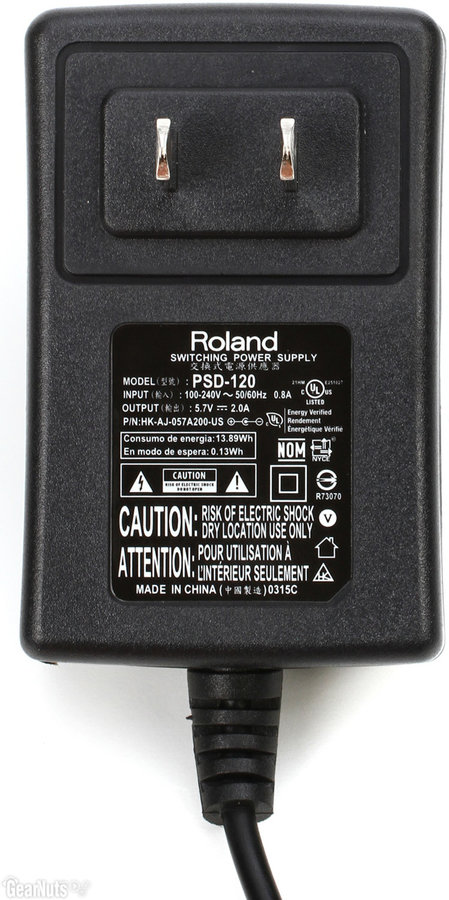 View larger image of Roland PSD-120 AC Power Adapter