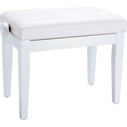 Roland RPB-300WH Piano Bench with Adjustable Cushioned Seat, Satin White