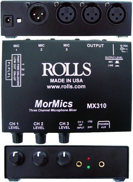 View larger image of Rolls MX310 3-Channel Mixer/Combiner