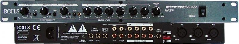 View larger image of Rolls RM67 Mic/Source Mixer