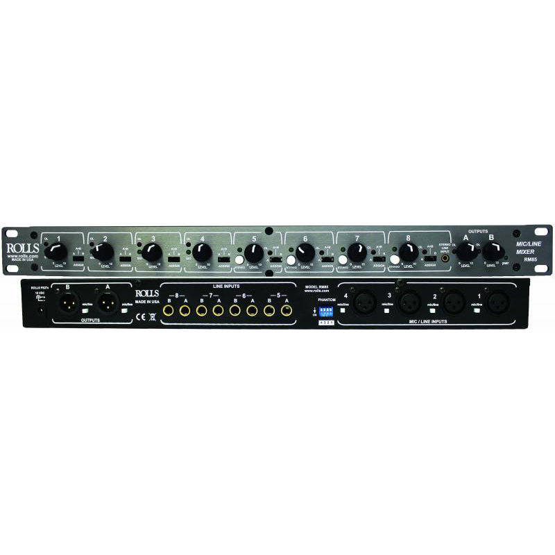 View larger image of Rolls RM85 Two Zone Mic/Line Mixer