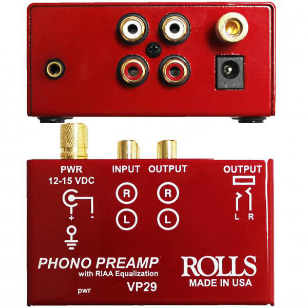 View larger image of Rolls VP29 Phono Preamp - Red