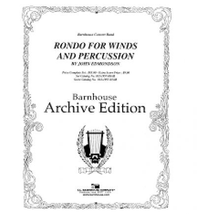 View larger image of Rondo for Winds & Percussion - Score & Parts, Grade 3