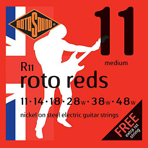View larger image of Rotosound Roto Reds Electric Guitar Strings - Medium, 11-48