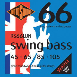 View larger image of Rotosound RS66LDN Swing Bass 66 Nickel Long Scale Bass Strings - 45-105, Roundwound