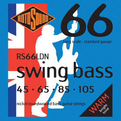 Rotosound RS66LDN Swing Bass 66 Nickel Long Scale Bass Strings - 45-105, Roundwound
