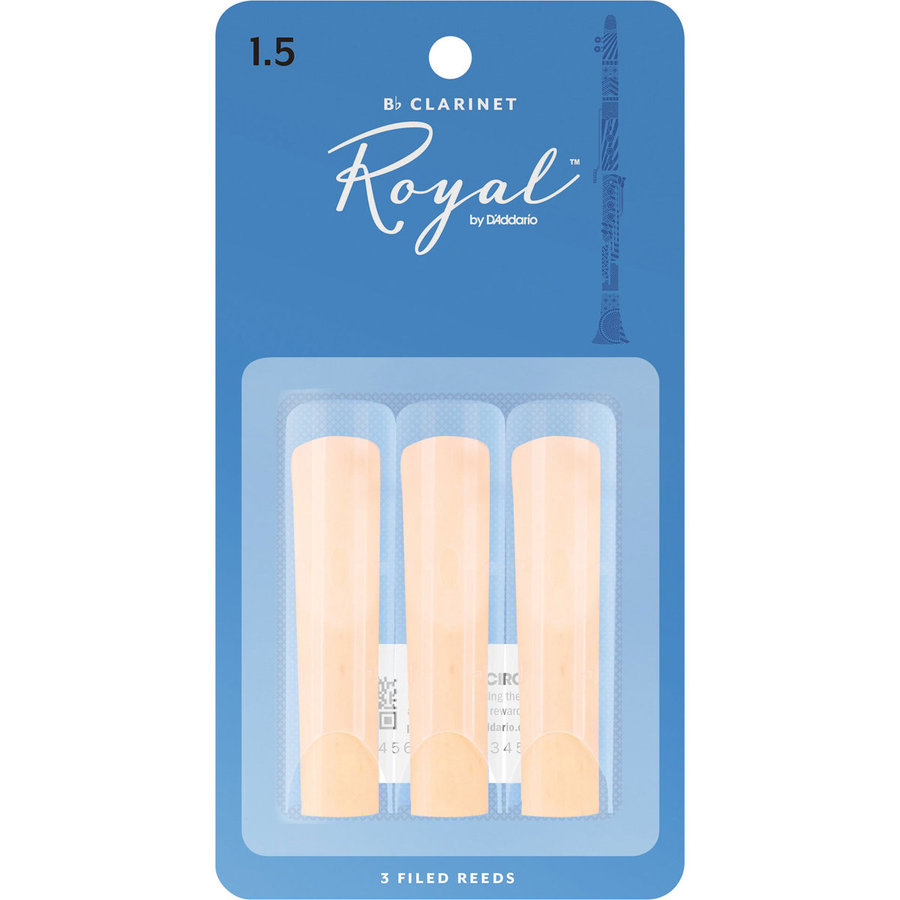 View larger image of Royal Bb Clarinet Reeds - #1-1/2, 3 Pack