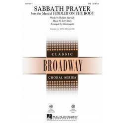 Sabbath Prayer (from Fiddler on the Roof), SAB Parts