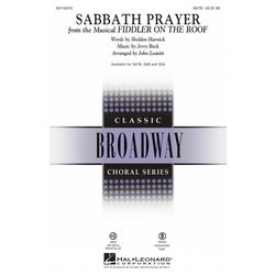 Sabbath Prayer (from Fiddler on the Roof), SATB Parts