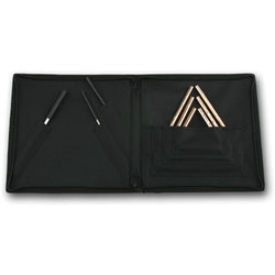 Sabian 61140H Hand Hammered Triangles and Striker Set with Attache Case
