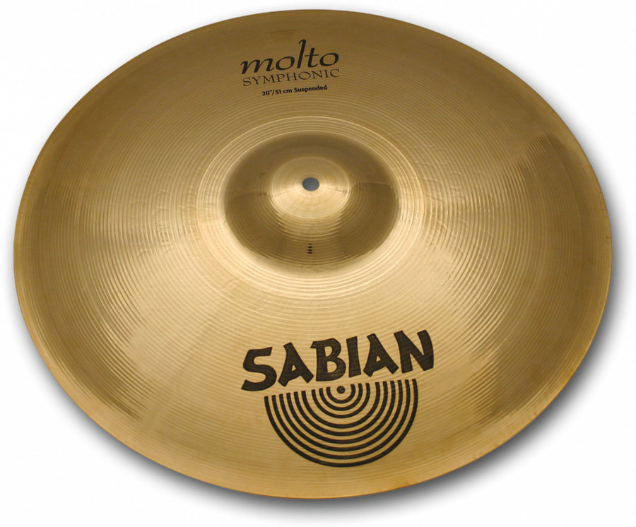 View larger image of Sabian AA Molto Symphonic Suspended Cymbal - 20