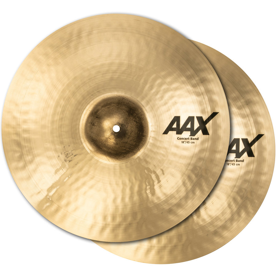 View larger image of Sabian AAX Concert Band Cymbals - 18, Brilliant, Pair
