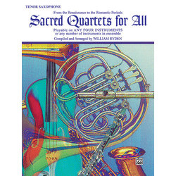 Sacred Quartets for All - Tenor Sax