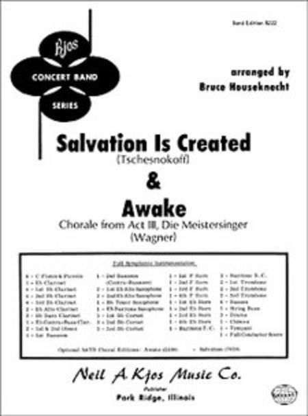 View larger image of Salvation Is Created And Awake - Score & Parts, Grade 3
