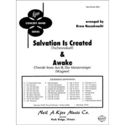 Salvation Is Created And Awake - Score & Parts, Grade 3