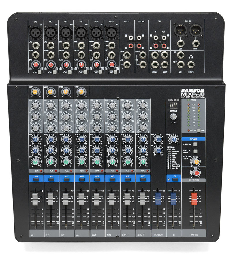 View larger image of Samson MixPad MXP144FX 14-Input Analog Stereo Mixer with Effects and USB
