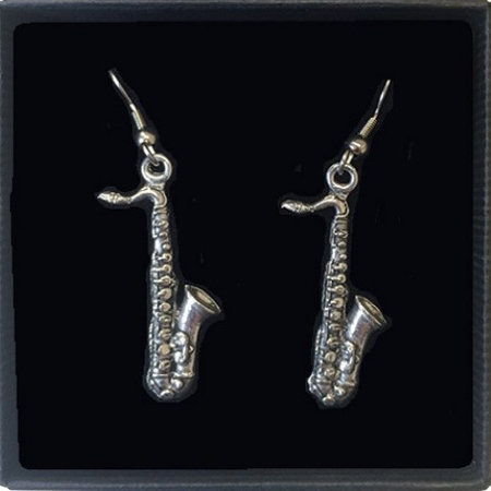 View larger image of Saxophone Earrings - Pewter