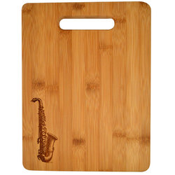 Saxophone Engraved Wooden Cutting Board