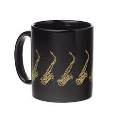 Saxophone Mug - Black/Gold