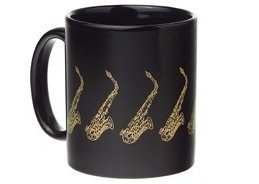 View larger image of Saxophone Mug - Black/Gold