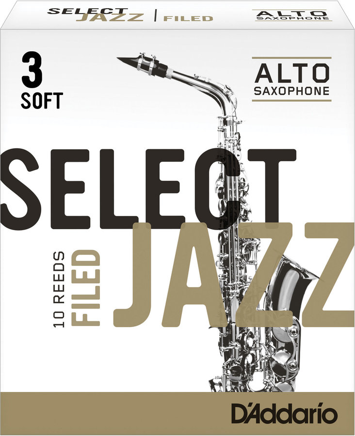 View larger image of Select Jazz Alto Saxophone Filed Reeds - 3 Soft, 10 Box