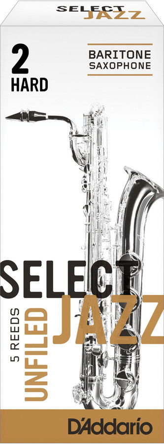 View larger image of Select Jazz Baritone Saxophone Unfiled Reeds - 2 Hard, 5 Box